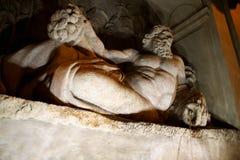Brunnen durch Domenico Fontana bei vier Brunnen quadrieren, Rom, Ita Lizenzfreies Stockbild