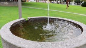 Brunnen in einem Garten stock video footage