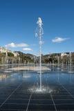 Brunnen Frankreichs nettes miroir d'eau bei promenade du Paillon Stockfoto