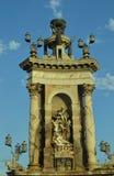 Brunnen gelegen auf Espanya Quadrat Stockfotografie
