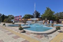 Brunnen im Adler-Erholungspark, Sochi, Krasnodar-Region, Russland Stockfotografie