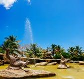Brunnen im alten Dorf Altos de Chavon - Lizenzfreie Stockbilder