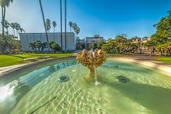 Brunnen im Balboapark Stockfotografie