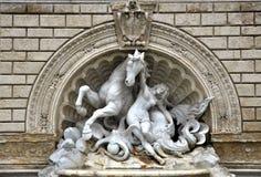 Brunnen im Bologna Stockfotografie