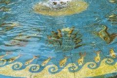 Brunnen im Garten beim Alte das alte National Gallery-Museum auf Museumsinsel in Berlin Germany Lizenzfreie Stockfotos