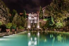 Brunnen im Garten des Landhauses d Este Stockfotografie