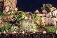 Brunnen im Garten des Landhauses d Este Stockbild
