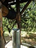 Brunnen im Hinterhof eines Klosters stockfoto