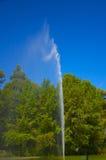 Brunnen im künstlichen Teich Lizenzfreies Stockbild