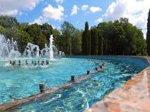 Brunnen im Park stockfoto