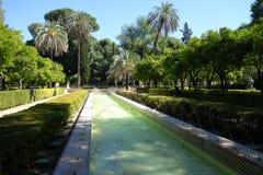 Brunnen im Park Maria Luisa Park, Sevilla Stockfotos