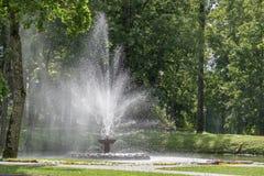 Brunnen im Sommerpark Lizenzfreies Stockbild