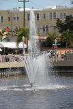 Brunnen in im Stadtzentrum gelegenem Fort Myers Stockfoto