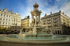 Brunnen an Jacobins Platz Stockbild