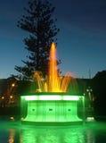 Brunnen nachts Stockbild