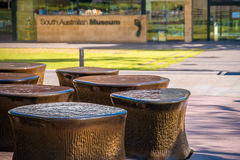 Brunnen nahe australischem Südmuseum Stockfotografie