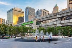 Brunnen nahe World Trade Center Lizenzfreies Stockfoto