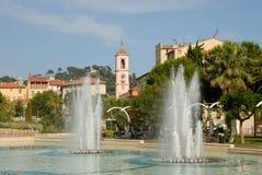 Brunnen in Nizza, Frankreich stockbilder