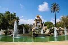 Brunnen in Parc de la Ciutadella, Barcelona, Spanien Lizenzfreies Stockfoto