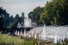 Brunnen parkerar, Aqua Zoo, DÃ-¼sseldorf Arkivbild