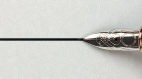 Brunnen Pen Drawing Line Stockbilder