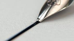 Brunnen Pen Drawing Line Lizenzfreie Stockfotos