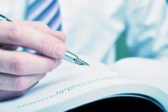Brunnen Pen Signature Stockfoto