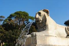 Brunnen in Piazza Del Popolo Rom Lizenzfreie Stockfotos