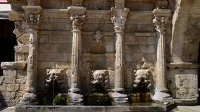 Brunnen Rethymno Rimondi stock footage