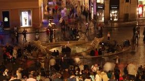 Brunnen Roms, Spanien quadratische Barcaccia-Zeitspanne stock video