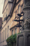 Brunnen in Rotenburg-ob Tauber Stockfotos