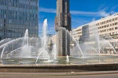 Brunnen am Sergels Quadrat, Stockholm Stockbild