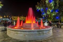 Brunnen-Syntagmaquadrat Stockbild
