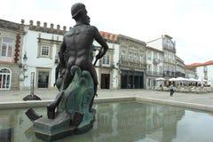 Brunnen in Viana do Castelo Stockfotografie