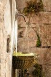 Brunnen in Visso Italien Lizenzfreie Stockfotografie