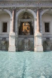 Brunnen von Acqua Paola in Rom (Italien) Stockbild