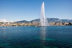 Brunnen von Genf stockfotografie