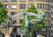 Brunnen von Jules Anspach Lizenzfreies Stockfoto