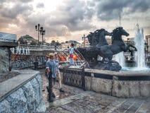 Brunnen von Moskau lizenzfreie stockfotografie