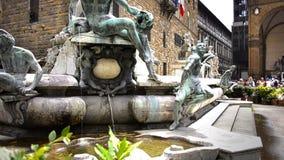 Brunnen von Neptun, Florenz stock video