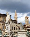 Brunnen von Neptun in FLORENZ ITALIEN Lizenzfreie Stockfotos