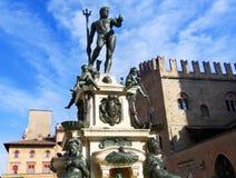 Brunnen von Neptun, Fontana Del Nettuno, Bologna, Italien stockbild