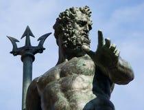 Brunnen von Neptun, Fontana Del Nettuno, Bologna, Italien stockfotografie