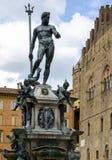 Brunnen von Neptun im Bologna, Italien Lizenzfreie Stockbilder