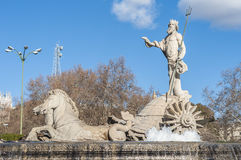 Brunnen von Neptun in Madrid, Spanien Stockfoto