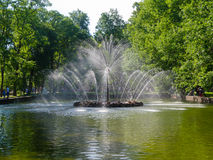 Brunnen von Petergof Stockfotos
