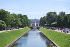 Brunnen von Peterhof Stockbilder