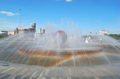 Brunnen in Yekaterinburg stockbild