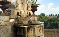 Brunnen Zagarolo - Rom, Italien. Stockbilder