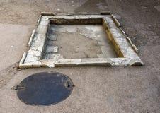 Brunnenboden im römischen Haus in Parco Archeologico di Ercolano Stockfotografie